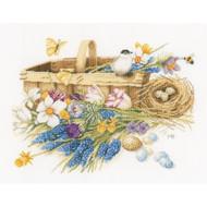 LanArte - Marjolein Bastin Spring Flowers Basket (Aida)