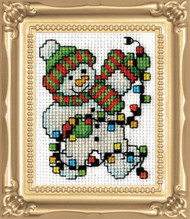 Design Works -  Snowman Lights Picture Kit w/Frame