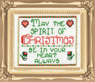 Design Works -  Spirit of Christmas Picture Kit w/Frame