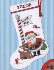 Dimensions - Rudolph Stocking