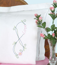 Jack Dempsey Needle Art - Infinity Pillowcase Set (2)