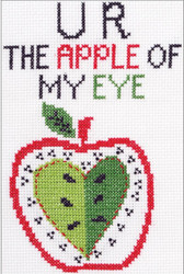 Plaid / Bucilla - My 1st Stitch - U R The Apple Of My Eye