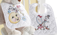 Plaid / Bucilla - Classic Mother Goose Bib Pair