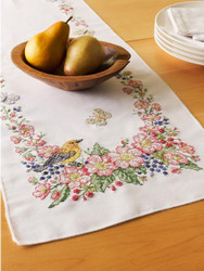 Plaid / Bucilla - Butterflies & Birds Table Runner