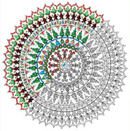"Design Works - Zenbroidery Christmas Mandala 10"" x 10"""