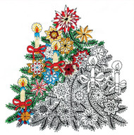 "Design Works - Zenbroidery Christmas Tree 10"" x 10"""