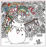 "Design Works - Zenbroidery Christmas Snowman 10"" x 10"""