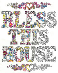 "Design Works - Zenbroidery Bless This House 14"" x 18"""