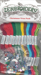 Design Works - Zenbroidery 12 Christmas Trim Pack