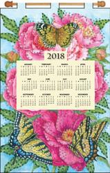 Design Works - Peonies & Butterflies 2018 Calendar