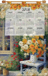 Design Works - Floral Chair 2018 Calendar