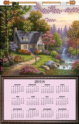 Design Works - House Near Stream 2018 Calendar