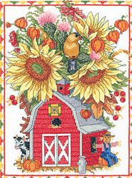 Janlynn - Barn Birdhouse Bouquet