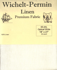 Wichelt - 32 Ct Optical White Linen 18 x 27 in