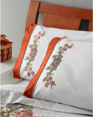 Plaid / Bucilla - Waverly Charleston Chirp Pillowcases (2)
