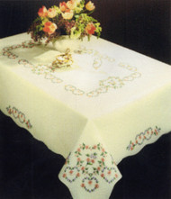 "Design Works - Hearts Tablecloth 58"" x 86"""