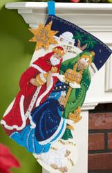 Plaid / Bucilla - Three Kings Stocking