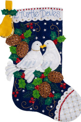 Plaid / Bucilla - 2 Turtle Doves Stocking