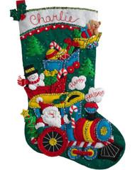 Plaid / Bucilla - Choo Choo Santa Stocking