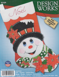 Design Works - Poinsettia  Snowman Stocking