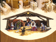 Gold Collection - Nativity Scene Tree Skirt