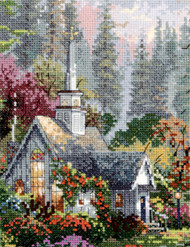 "Candamar / Thomas Kinkade - The Forest Chapel 6"" x 8"""