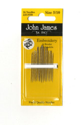 16 John James Size 5/10 Embroidery Hand Needles