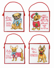 Dimensions - Christmas Pups Ornaments (Set of 4)