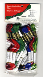 Janlynn / DFN - Rayon Embroidery Holiday Floss (12 skeins)
