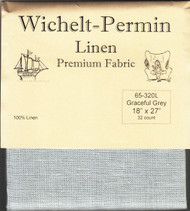 Wichelt - 32 Ct  Graceful Grey Linen 18 x 27 in