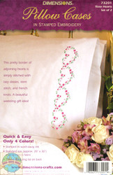 Dimensions - Rose Hearts Pillowcases