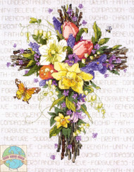 Janlynn - Spring Floral Cross