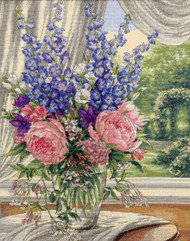 Gold Collection - Peonies and Delphiniums