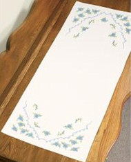 Dimensions - Blue Flowers Dresser Scarf