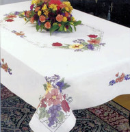 Dimensions - Flowers & Berries 50 x 70in Tablecloth