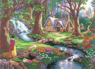 Kinkade / Disney - Snow White Discovers the Cottage