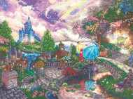 Kinkade / Disney - Cinderella Wishes Upon A Dream