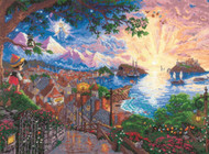 Kinkade / Disney - Pinocchio Wishes Upon A Star