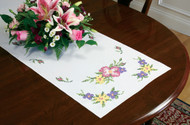 Dimensions - Wild Roses Table Runner