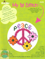 Plaid-Bucilla - My 1st Stitch - Peace