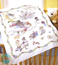Plaid / Bucilla - Mother Goose Crib Cover