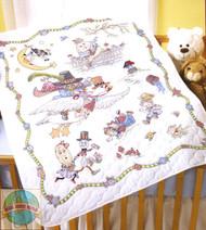 Plaid / Bucilla - Mother Goose Crib Cover