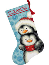 Dimensions - Hugging Penguins Stocking