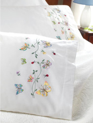 Plaid / Bucilla - Butterflies in Flight Pillowcases (2)
