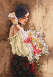 Gold Collection - Woman with Bouquet