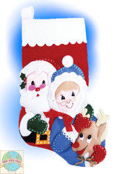 Design Works - Santa's Family Felt Stocking