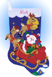 Design Works - Moonlit Ride Felt Stocking