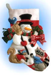 Design Works - Snowman with Animals Stocking