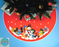 Design Works - Snowman and Animals Tree Skirt