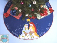 Design Works - Silent Night Tree Skirt